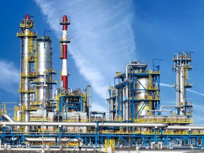 Oil refineries and loading bays